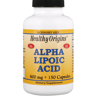 Healthy Origins, Acide alpha-lipoïque, 600 mg, 150 Capsules