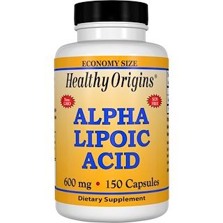 Healthy Origins, Ácido Alfa Lipóico, 600 mg, 150 Cápsulas