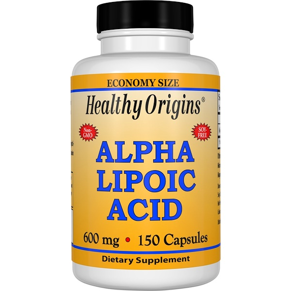 Healthy Origins, Alpha Lipoic Acid, 600 mg, 150 Capsules