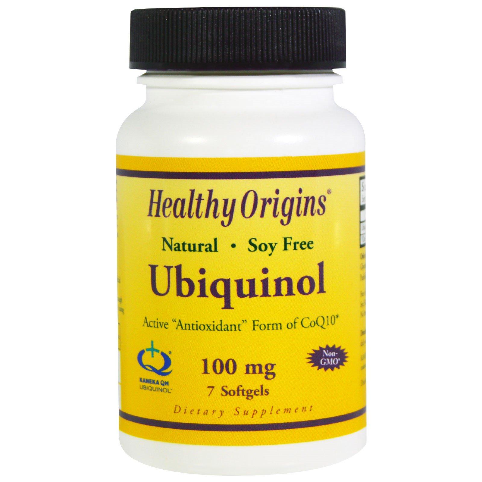Healthy Origins, Убихинол, 100 мг, 7 желатиновых капсул