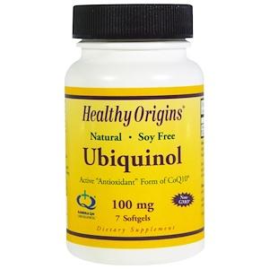 Healthy Origins, Убихинол, 100 мг, 7 желатиновых капсул инструкция, применение, состав, противопоказания