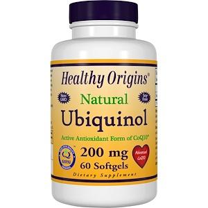 Healthy Origins, Убихинол, 200 мг, 60 капсул инструкция, применение, состав, противопоказания