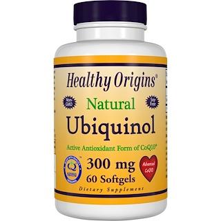 Healthy Origins, Ubiquinol, Kaneka QH, 300 mg, 60 Softgels
