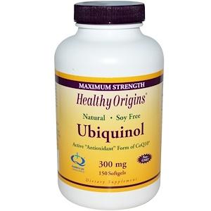 Healthy Origins, Убихинол (Kaneka QH), 300 мг, 150 капсул инструкция, применение, состав, противопоказания
