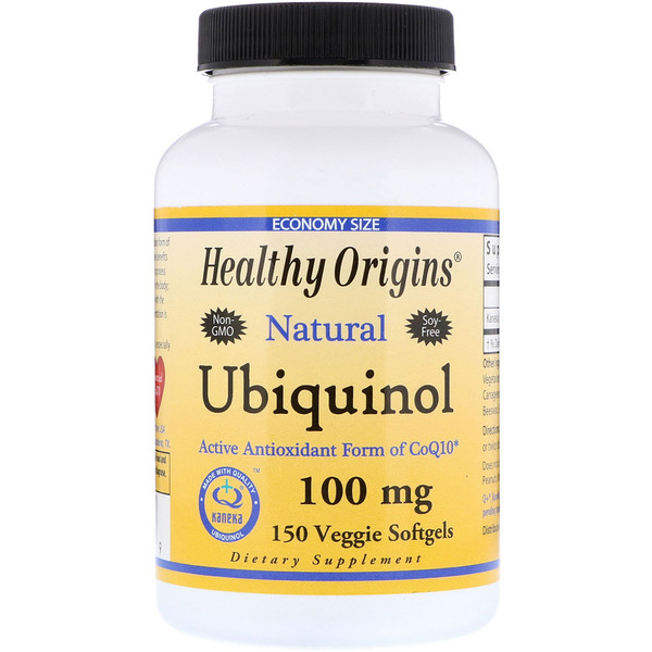 Healthy Origins, Ubiquinol, Kaneka Q+, 100 mg, 150 Veggie Softgels