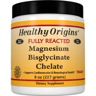 Healthy Origins, Fully Reacted Magnesium Bisglycinate Chelate, 8 oz (227 g)