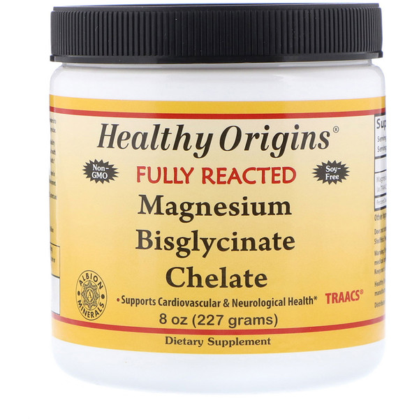 Healthy Origins, Magnesium Bisglycinate Chelate, 8 oz (227 g)