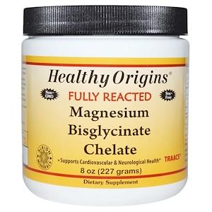 Healthy Origins, Полностью прореагировавший хелатный бисглицинат магния, 8 унций (227 г) инструкция, применение, состав, противопоказания
