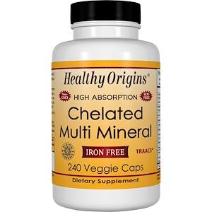 Healthy Origins, Хелатированный мультиминерал, без железа, 240 растительных капсул инструкция, применение, состав, противопоказания
