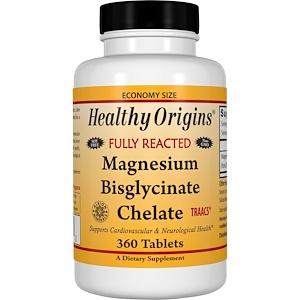 Healthy Origins, Хелатный биглицинат магния, 360 таблеток инструкция, применение, состав, противопоказания