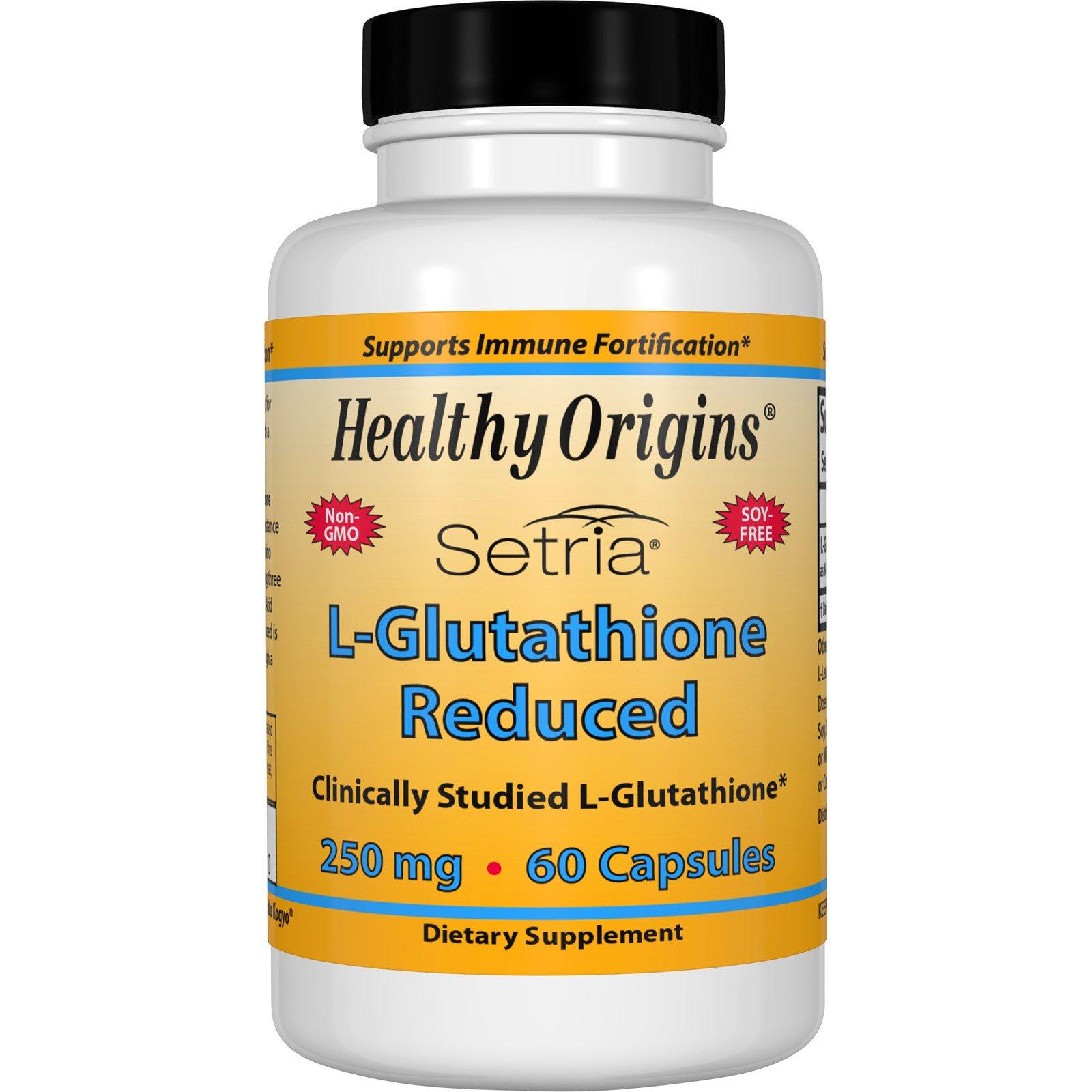 Healthy Origins, Setria, L-глутатион сокращенный, 250 мг, 60 капсул