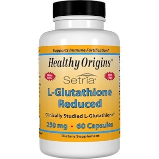 Healthy Origins, Setria, L-Glutathione Reduced, 250 mg, 60 Capsules