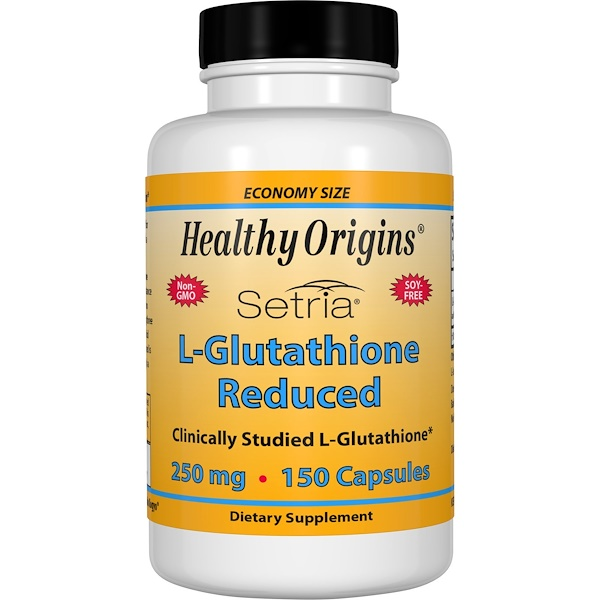 Healthy Origins, Setria, 還元型L-グルタチオン, 250 mg, 150カプセル