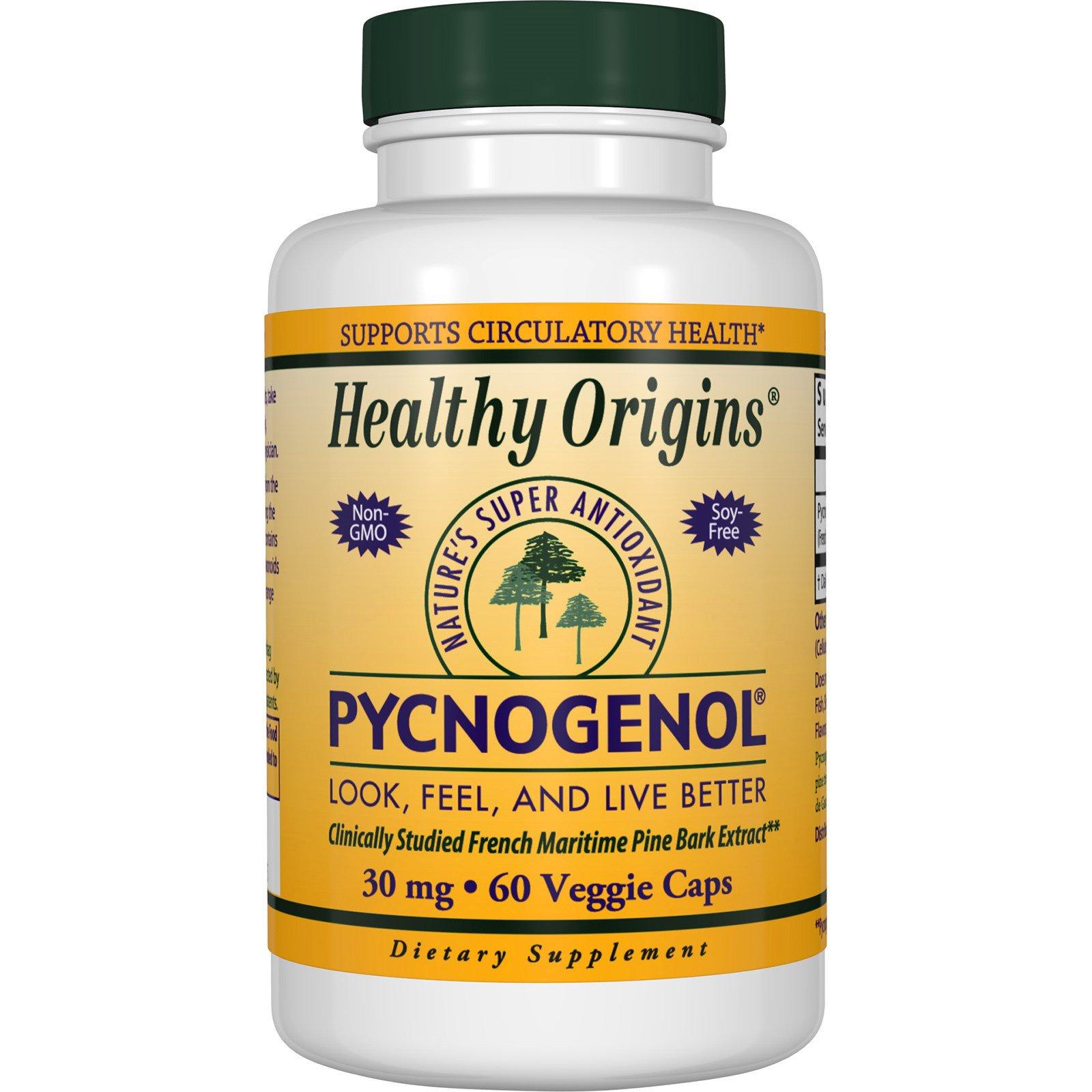 Healthy Origins, Пикногенол, 30 мг, 60 капсул