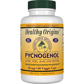 Healthy Origins, Pycnogenol, 30 mg, 60 Veggie Caps