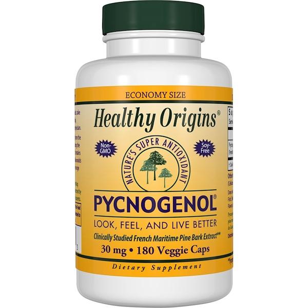 Healthy Origins, Pycnogenol, 30 mg, 180 Veggie Caps