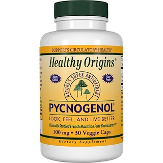 Healthy Origins, Pycnogenol, 100 mg, 30 Veggie Caps