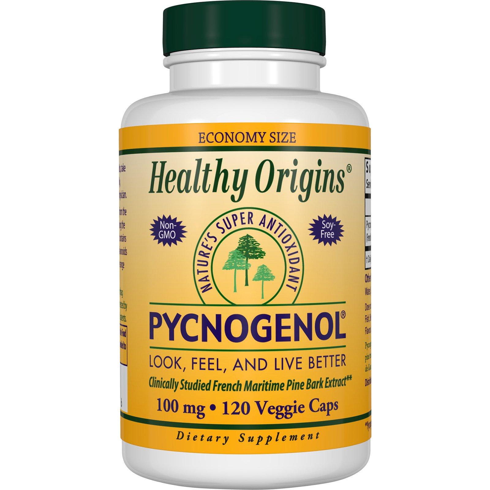Healthy Origins, Пикногенол, 100 мг, 120 капсул в растительной оболочке