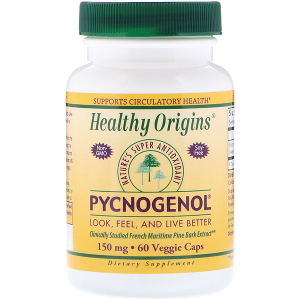 Healthy Origins, Pycnogenol, 150 mg, 60 Veggie Caps (Discontinued Item)