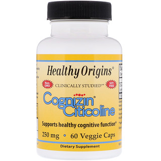Healthy Origins, Citicolina Cognizin, 250 mg, 60 Cápsulas vegetais