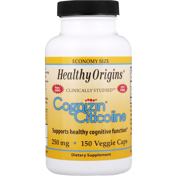 Healthy Origins, Cognizin Citicoline, 250 mg, 150 Veggie Caps