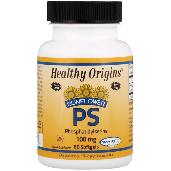 Healthy Origins, Sunflower PS Phosphatidylserine, 100 mg , 60 Softgels