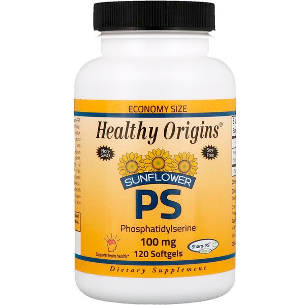 Healthy Origins, Sunflower PS Phosphatidylserine, 100 mg, 120 Softgels