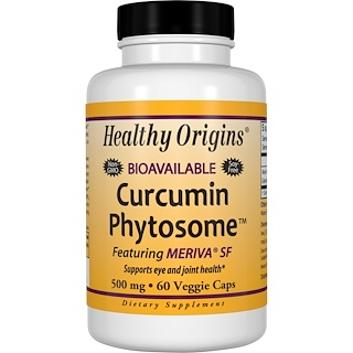 Healthy Origins, Curcumin Phytosome Featuring Meriva SF, 60 Veggie Caps
