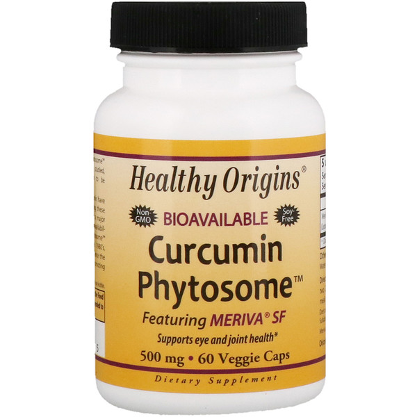 Healthy Origins, Bioavailable Curcumin Phytosome featuring Meriva SF, 500 mg, 60 Veggie Caps (Discontinued Item)