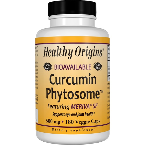 Healthy Origins, Curcumin Phytosome Featuring Meriva SF, 180 Veggie Caps