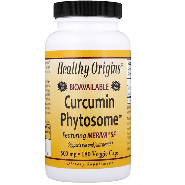 Healthy Origins, Bioavailable Curcumin Phytosome featuring Meriva SF, 500 mg, 180 Veggie Caps