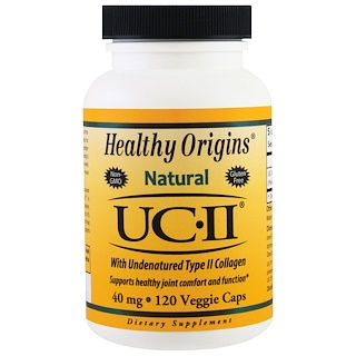 Healthy Origins, Natural, UC-II with Undenatured Type II Collagen, 40 mg, 120 Veggie Caps