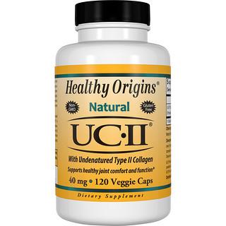 Healthy Origins, UC-II com Colágeno Tipo II não Desnaturado, 40 mg, 120 cápsulas vegetais