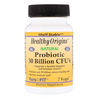 Healthy Origins, Probiotics 30 Billion CFU's, 7 Vcaps
