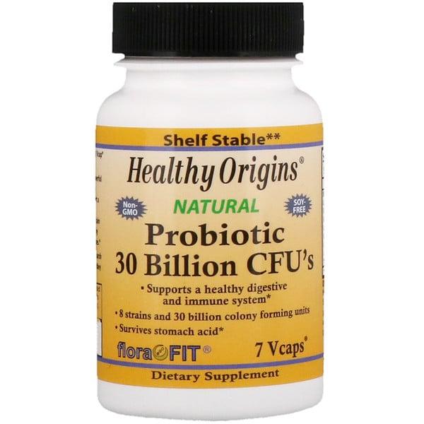 Healthy Origins, Probiótico, 30 mil millones de UFC, 7 cápsulas vegetales