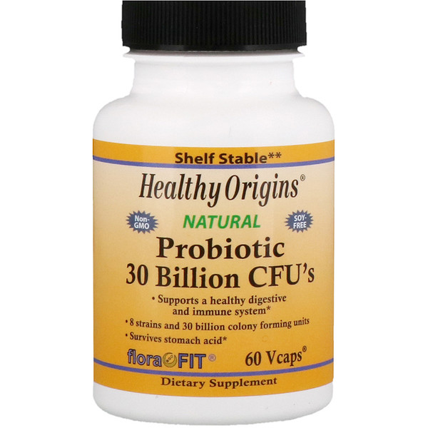 Healthy Origins, Probiotique, 30 milliards de CFU, 60 capsules végétales