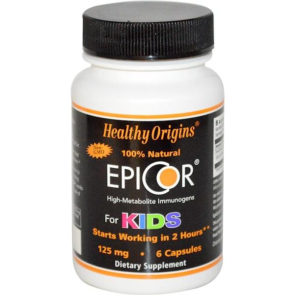 Healthy Origins, EpiCor для детей, 125 мг, 6 капсул (Discontinued Item)