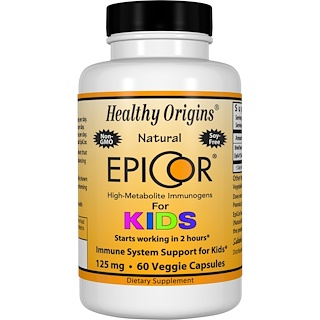 Healthy Origins, EpiCor for Kids, 125 mg, 60 Veggie Caps