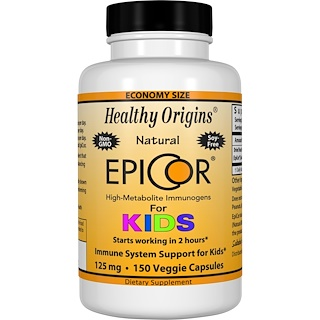 Healthy Origins, EpiCor para niños, 125 mg, 150 cápsulas vegetarianas