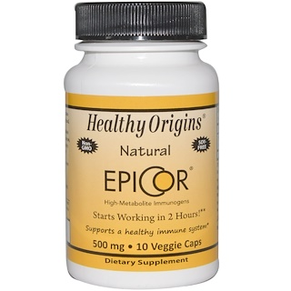 Healthy Origins, EpiCor, 500 mg, 10 Veggie Caps