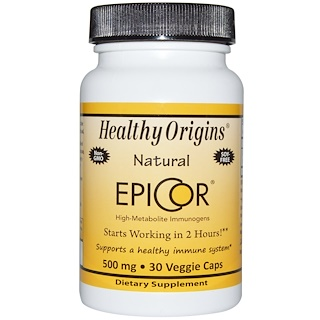 Healthy Origins, EpiCor, 500 mg, 30 베지캡