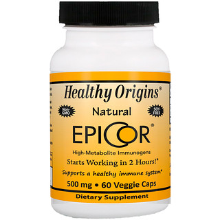 Healthy Origins, EpiCor, 500 mg, 60 Cápsulas Vegetales