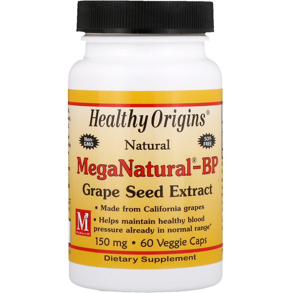 Healthy Origins, MegaNatural-BP Grape Seed Extract, 150 mg, 60 Veggie Caps (Discontinued Item)