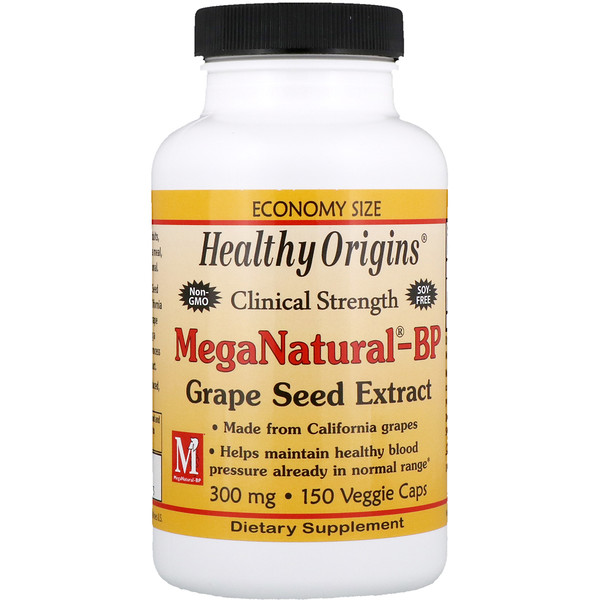Healthy Origins, MegaNatural-BP Grape Seed Extract, 300 mg, 150 Veggie Caps (Discontinued Item)