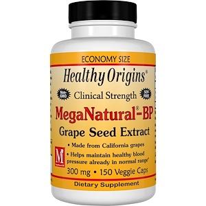 Healthy Origins, Экстракт виноградных косточек MegaNatural-BP, 300 мг, 150 вегетарианских капсул инструкция, применение, состав, противопоказания