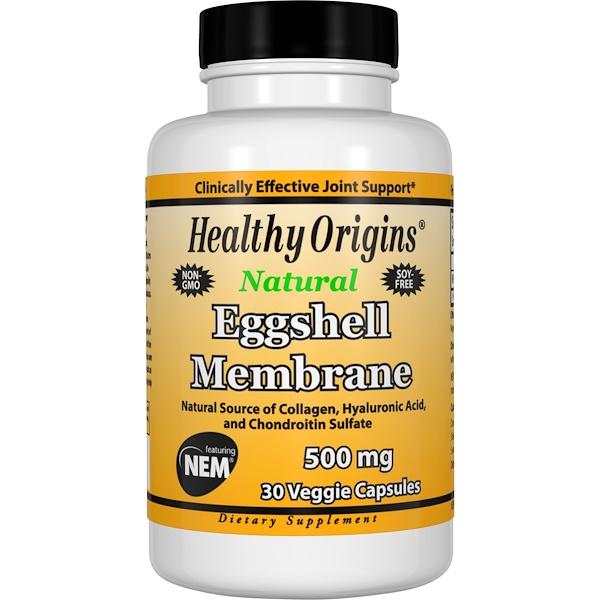Healthy Origins, 卵殻膜、 500 mg、ベジキャップ30錠 (Discontinued Item)