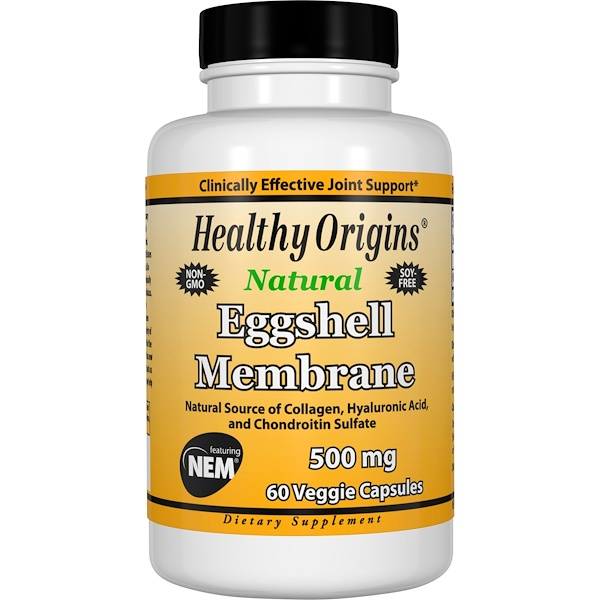 Healthy Origins, Eggshell Membrane, 500 mg, 60 Veggie Caps (Discontinued Item)