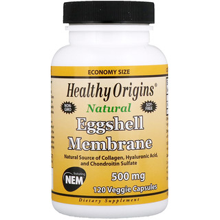 Healthy Origins, Eggshell Membrane, 500 mg, 120 Veggie Capsules
