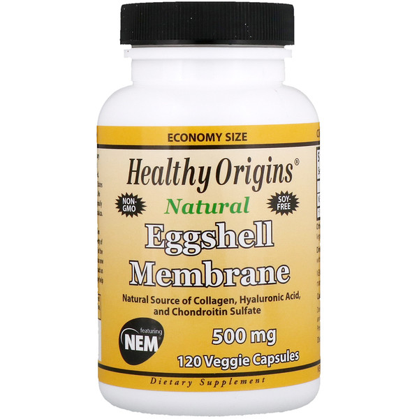 Healthy Origins, Eggshell Membrane, 500 mg, 120 Veggie Capsules (Discontinued Item)