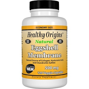 Healthy Origins, Мембрана яичной скорлупы, 500 мг, 120 вегетарианских капсул инструкция, применение, состав, противопоказания